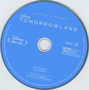 Tomorrowland blu-ray dvd label
