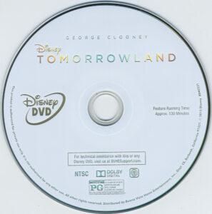 Tomorrowland dvd label