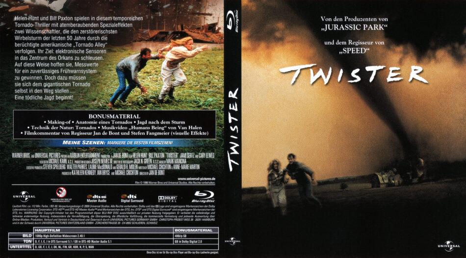 Twister Blu Ray Dvd Covers 1996 German