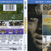 Unbroken (2015) Blu-Ray DVD Cover & Label