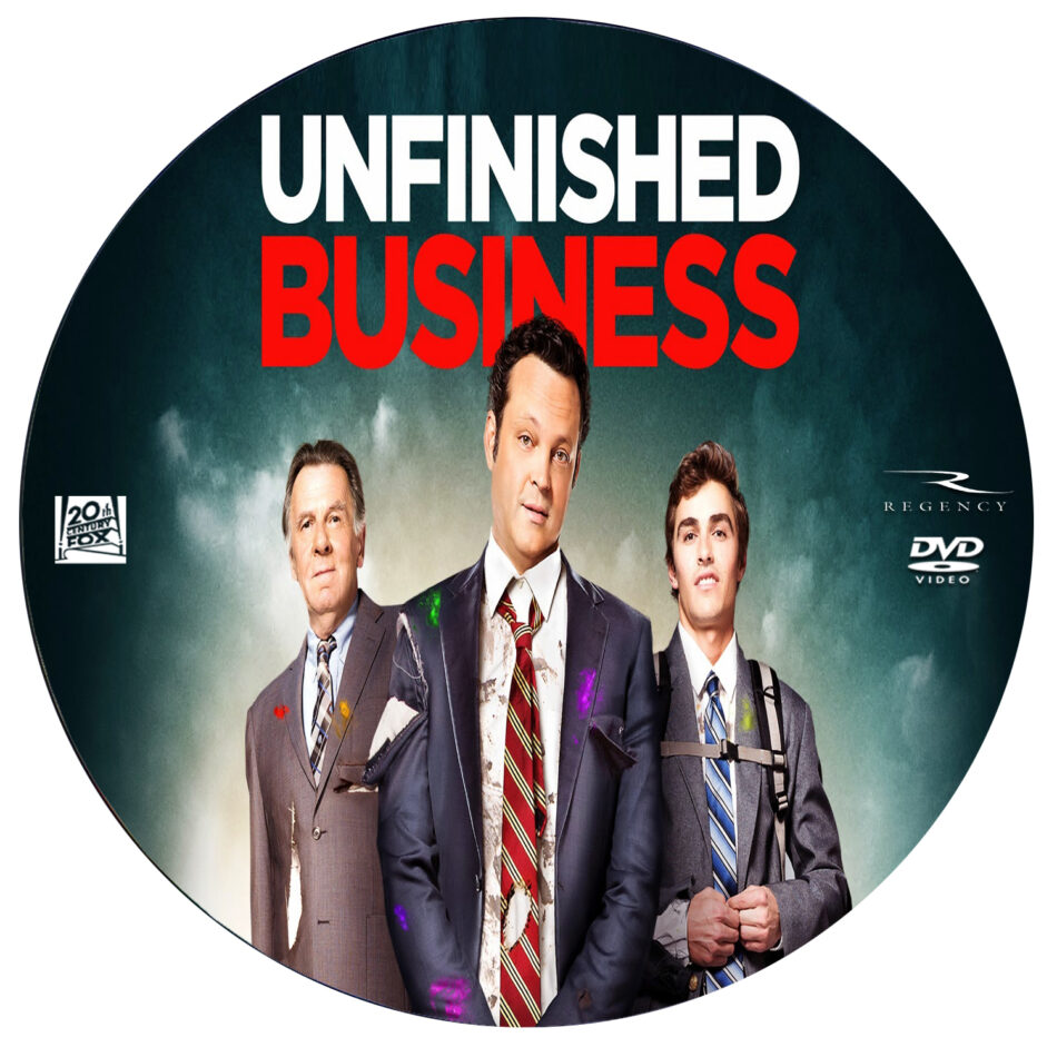 unfinished business dvd label