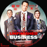 Unfinished Business (2015) R0 Custom DVD Label