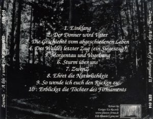 ZwenZ - A Life's Work Of Natrgaard II - Back