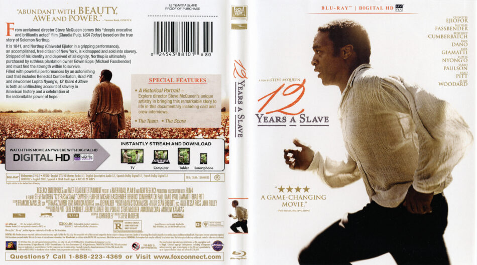 12 Years A Slave Blu Ray Dvd Cover 2013 R1