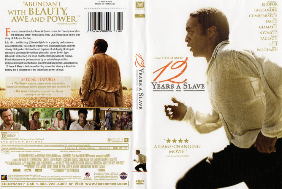 12 Years A Slave Dvd Cover 2013 R1
