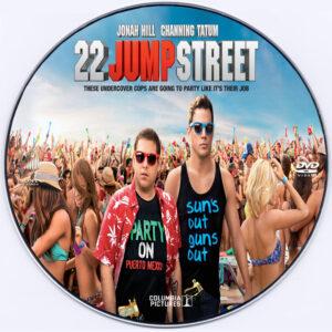 22 Jump Street dvd label