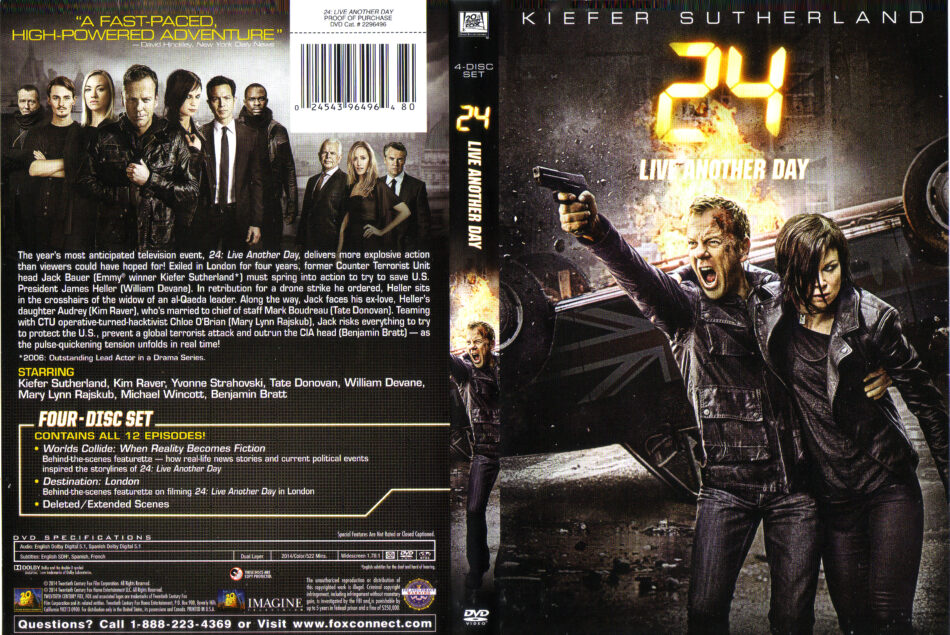 24: Live Another Day dvd cover