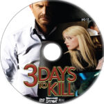 3 Days to Kill (2014) R1 Custom DVD Label