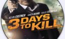 3 Days to Kill (2014) Custom DVD Label