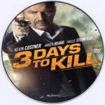 3 Days to Kill (2014) Custom DVD Label