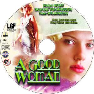A Good Woman dvd label