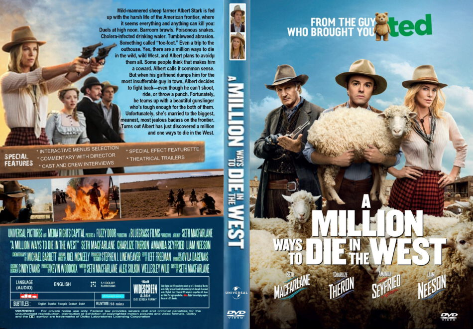 A Million Ways To Die In The West dvd cover