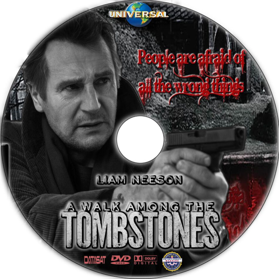 A Walk Among the Tombstones dvd label
