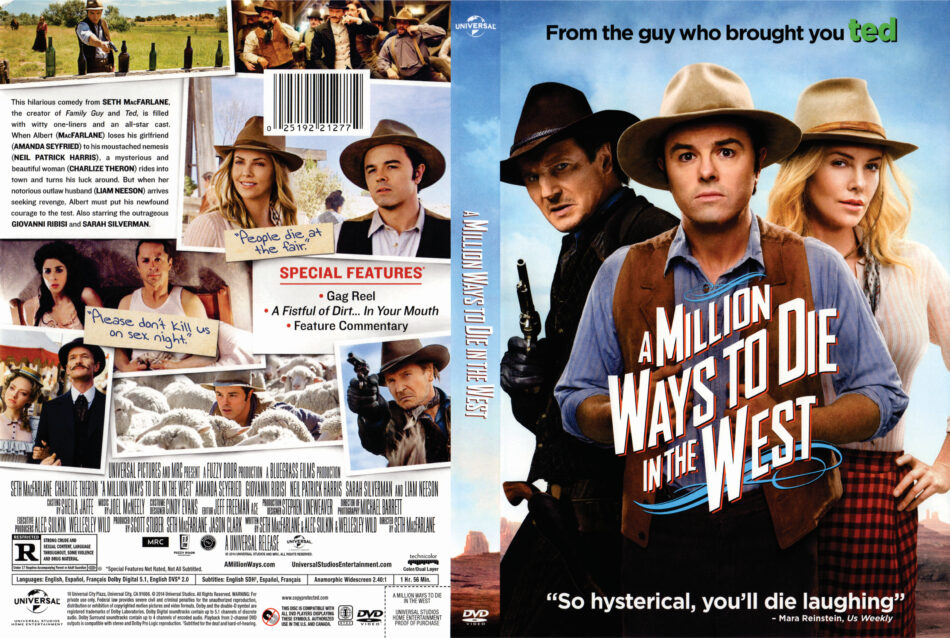A Million Ways to Die in the West DVD Cover (2014) R1