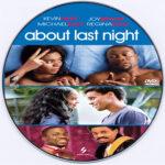 About Last Night (2014) R0 Custom DVD Label