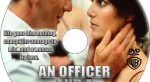 An Officer and a Gentleman dvd label