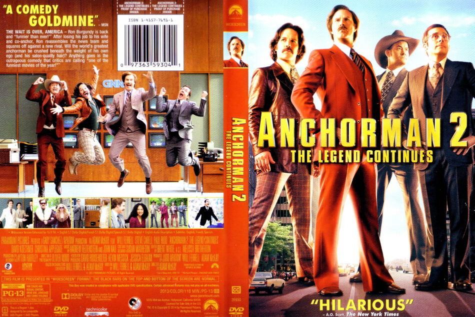 Anchorman 2 The Legend Continues Dvd Cover 2013 R1