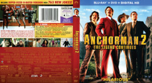 Anchorman 2: The Legend Continues blu-ray dvd cover