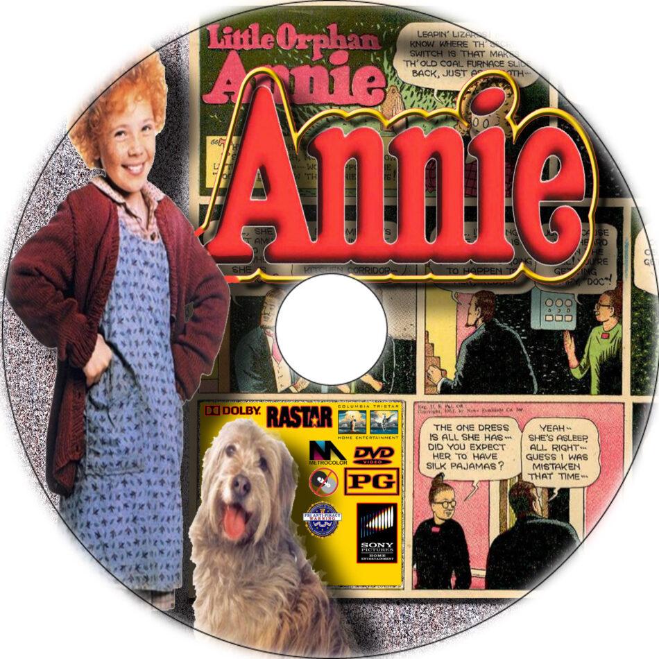 annie 1982 dvd label