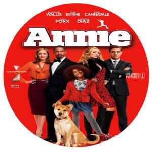 annie dvd label