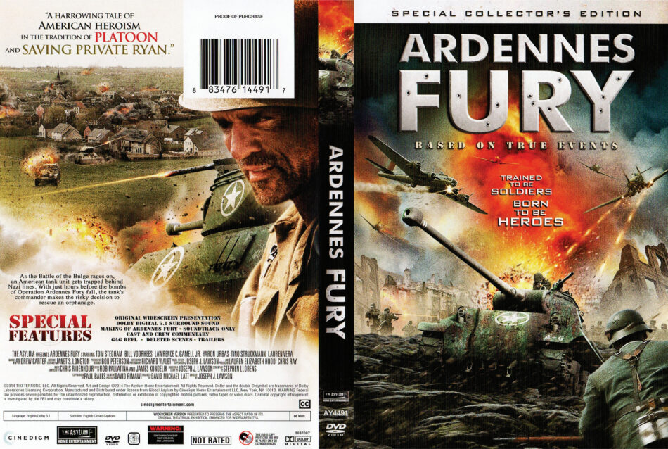 Ardennes Fury dvd cover