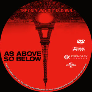 As Above, So Below dvd label