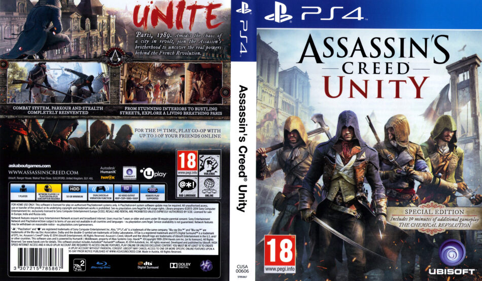Assassin's Creed Unity dvd cover