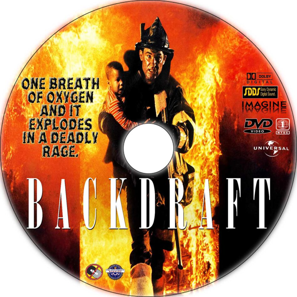 backdraft dvd label  1991  r1 custom art