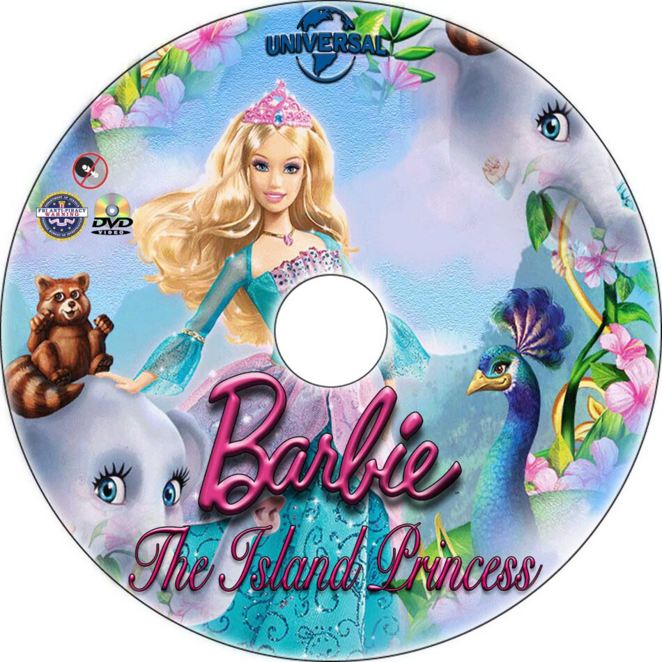 Barbie as the Island Princess dvd label