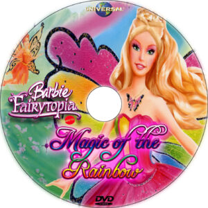 Barbie Fairytopia: Magic of the Rainbow dvd label