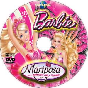 Barbie Mariposa and Her Butterfly Fairy Friends dvd label