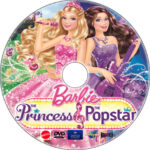 Barbie: The Princess & the Popstar (2012) R1 Custom DVD Label