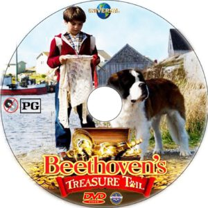 Beethoven's Treasure Tail dvd label