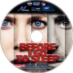 Before I Go To Sleep dvd label