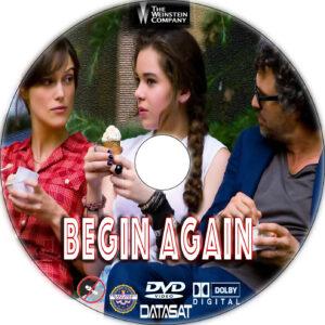 Begin Again dvd label