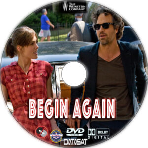 Begin Again dvd label