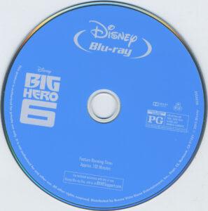 Big Hero 6 dvd label
