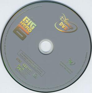 Big Hero 6 blu-ray label