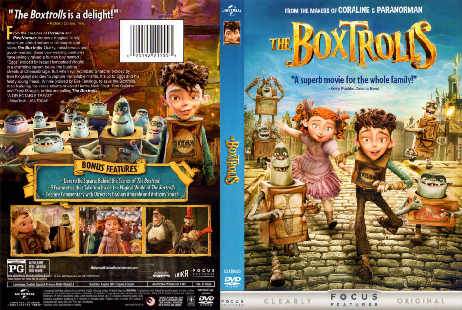 The Boxtrolls dvd cover