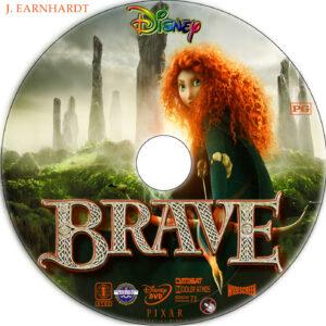 brave dvd label