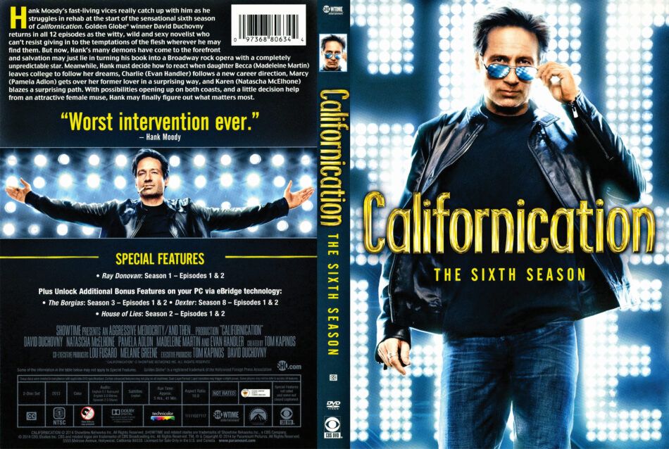 Californication season 6 dvd cover