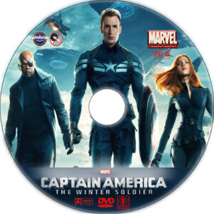 Captain America: The Winter Soldier dvd label