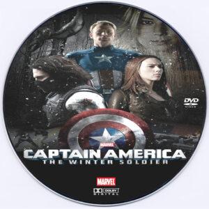Captain America: The Winter Soldier dvd label
