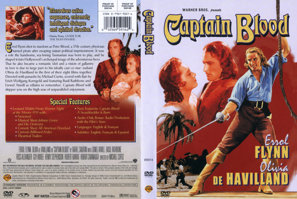 Captain Blood DVD Cover