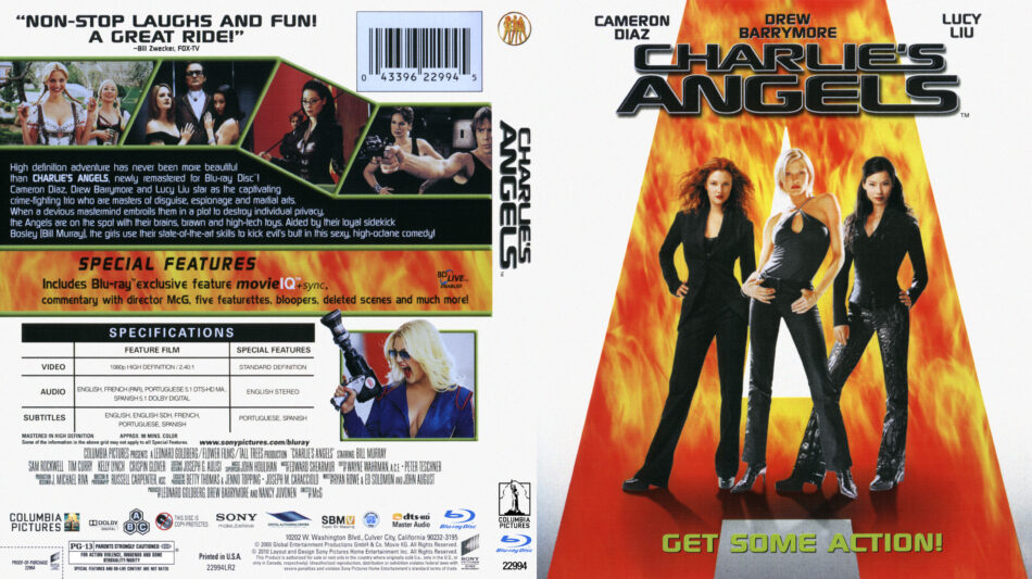 Charlie's Angels blu-ray dvd cover