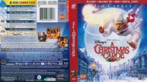 A Christmas Carol 3D blu-ray dvd cover