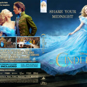 Cinderella (2015) R0 Custom Blu-Ray Cover & Label