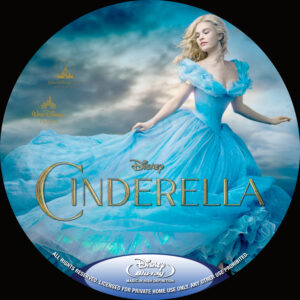Cinderella blu-ray dvd label