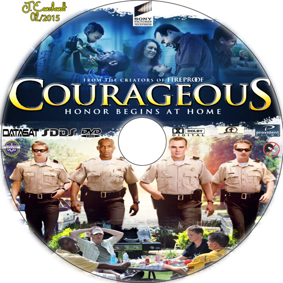 Courageous dvd label