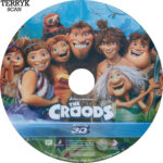 The Croods 3D (2013) Blu-Ray DVD Label